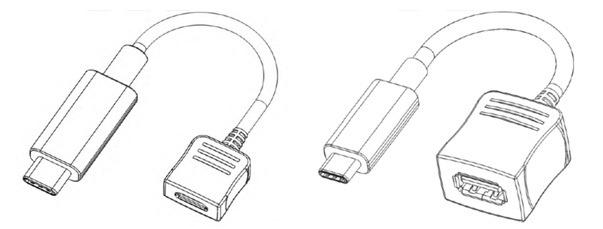 圖一 - 左邊為Type C至USB 2.0 Micro B轉接頭;右邊為Type C至USB 3.1 Standard A轉接頭