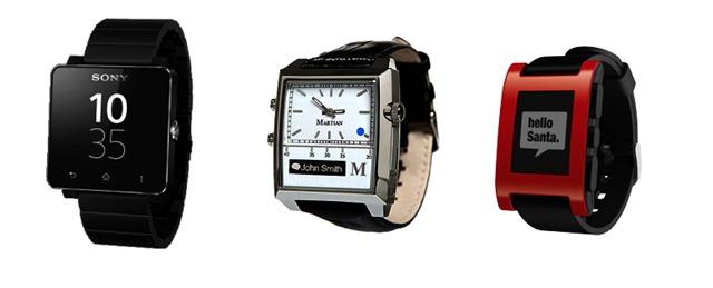 三隻手錶合照smartwatch