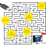 螢幕使用萬能通用接口USB-C®  面臨的問題與挑戰